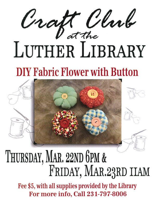 Fabric Flower Craft Club